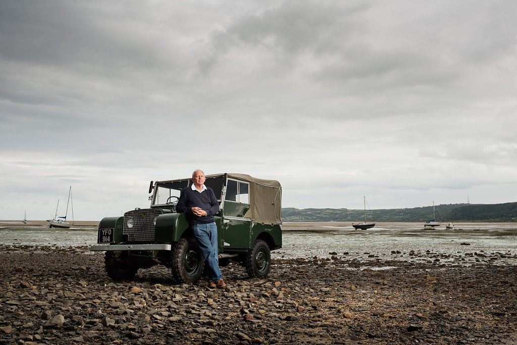 Roger Crathorne & Land Rover Series 1, Red Wharf Bay, Anglesey