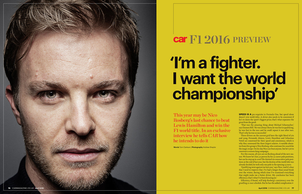 Nico Rosberg for Car Magazine