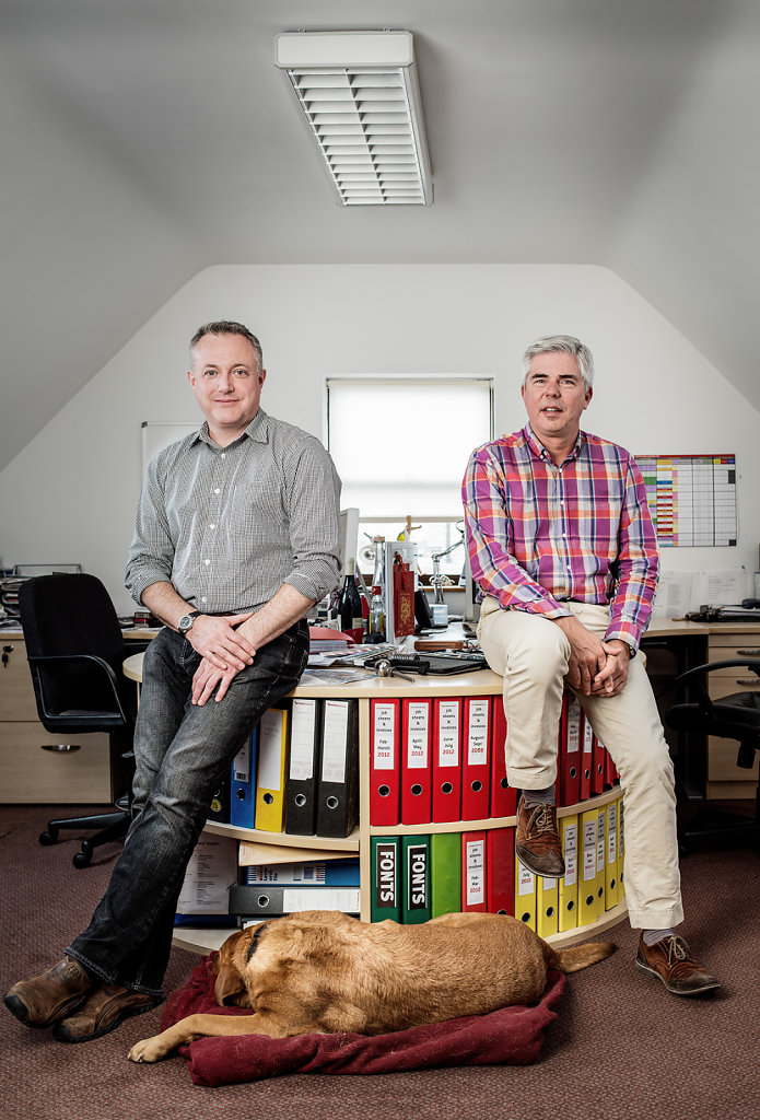 Simon Alder & David Cannon photographed at the offices of The Creative Team